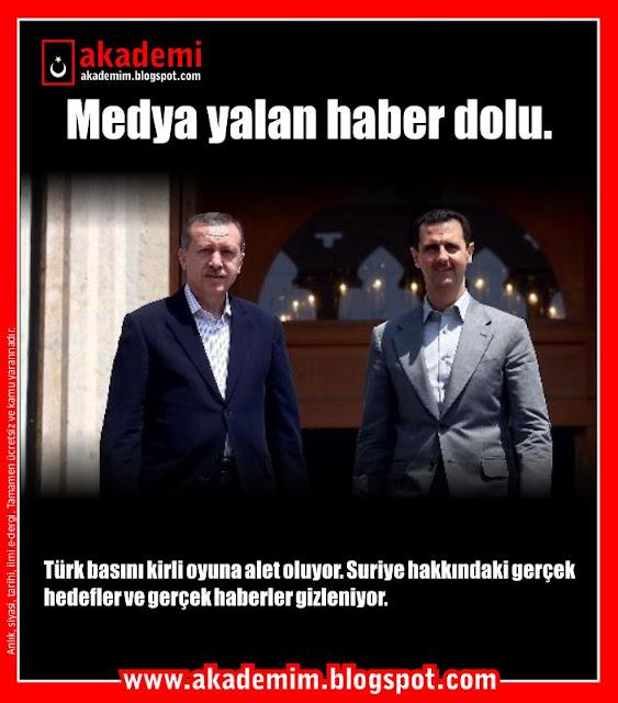 Medya yalan haber dolu; Türk basını kirli oyuna alet oluyor. Suriye hakkındaki gerçek hedefler ve gerçek haberler gizleniyor