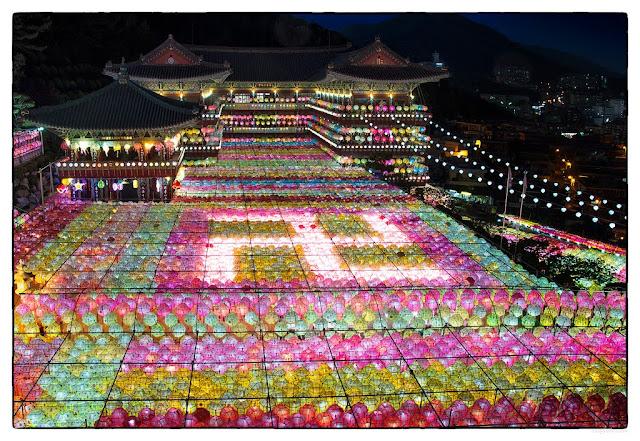 ve may bay di han quoc - chùa Samkwang