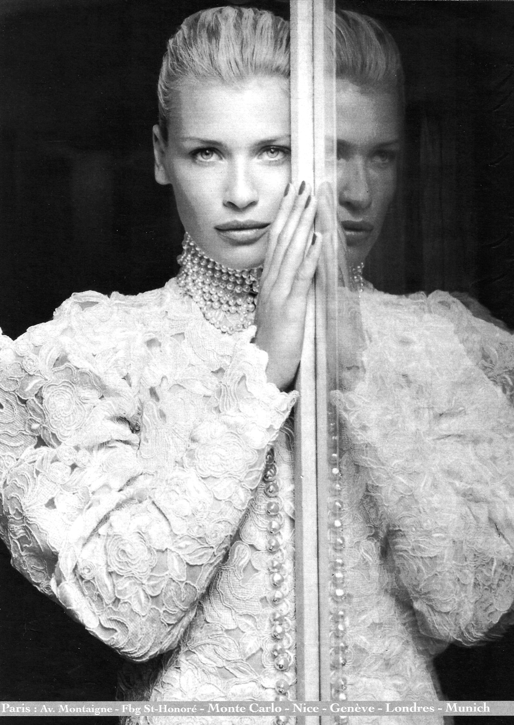 Daniela Pestova by Marc Hispard for Christian Dior 1994 campaign via fashioned by love british fashion blog