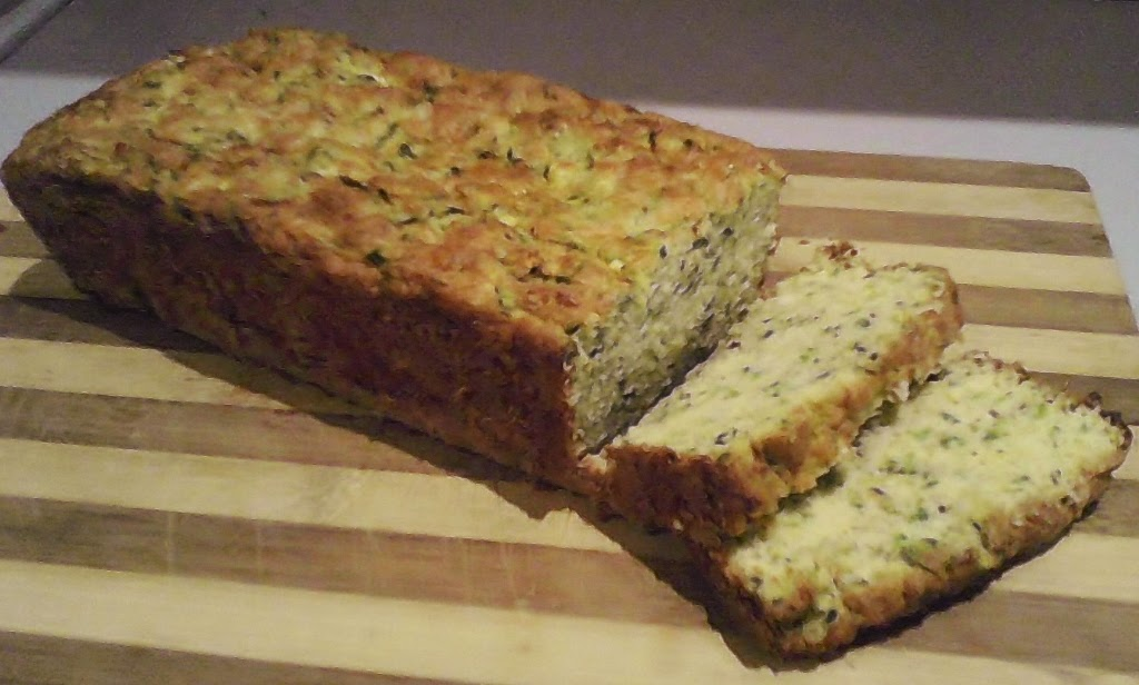 Wood, bread board, Baby Marrow and Coconut Flour Bread