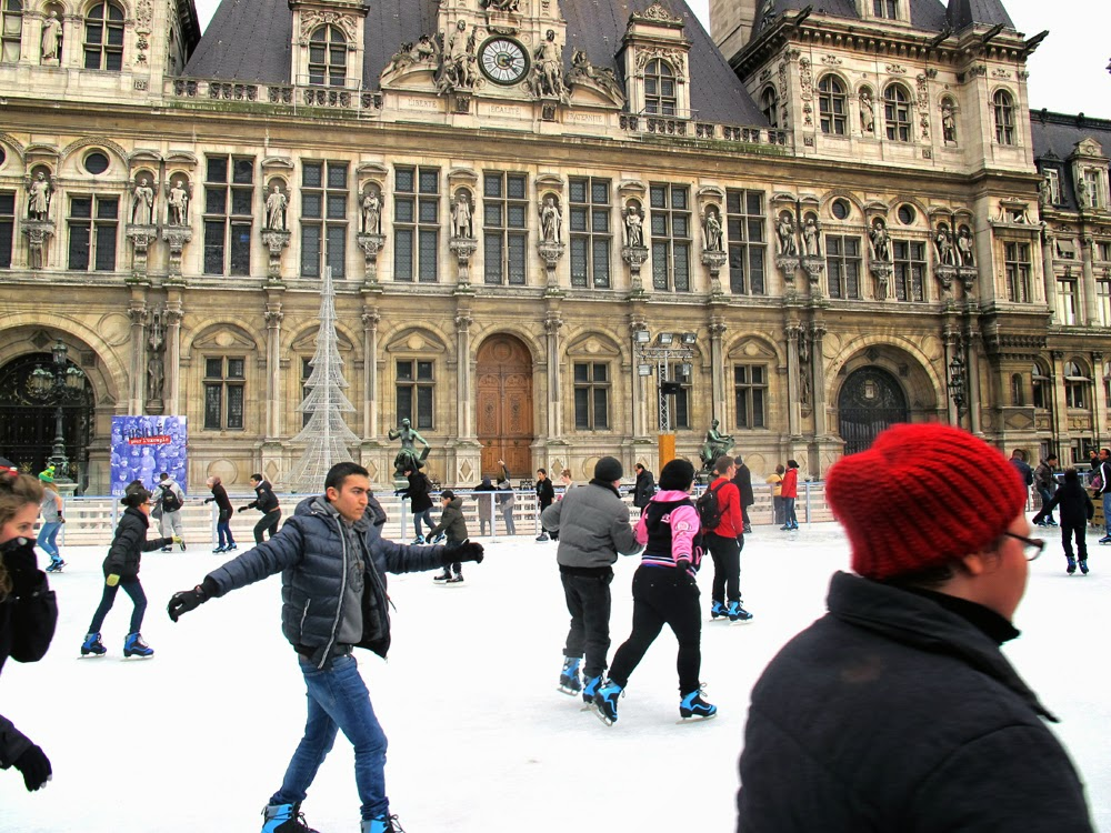 Hotel de Ville ice skating rink, Paris