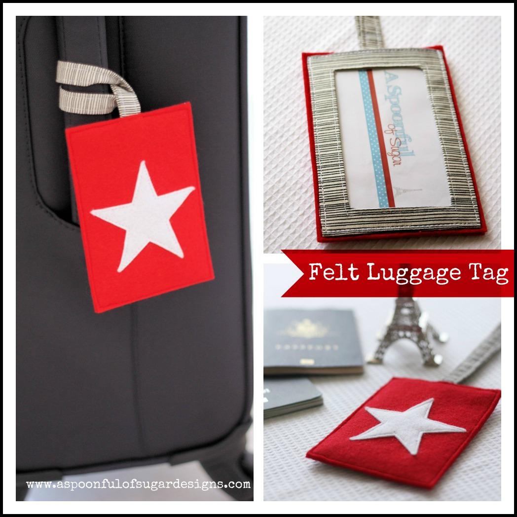 felt luggage tag a spoonful of sugar
