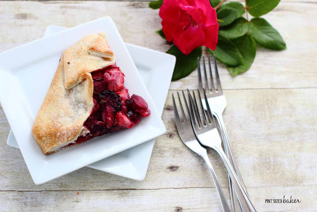 Enjoy a slice of this Rhubarb and Mixed Berry Galette! It's the perfect dessert for everyday!