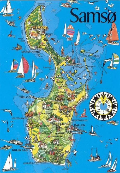 Map of the island as well as one of denmark showing sams 248 s