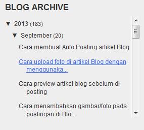 60 detik untuk membuat Arsip Blog