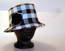 black and white gingham bucket