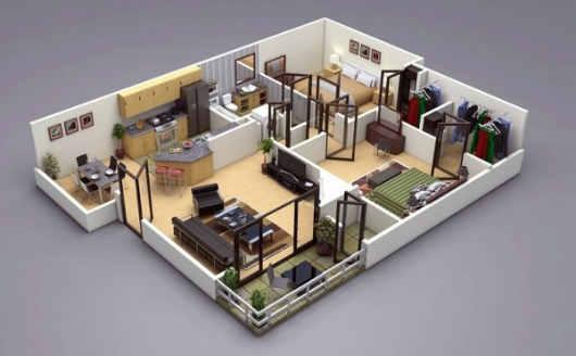 Untuk desain rumah ini lebih menekankan pada pemilihan dan penataan furniture yang digunakan. & Contoh Desain Rumah Minimalis Simple 3D | Parsiyani
