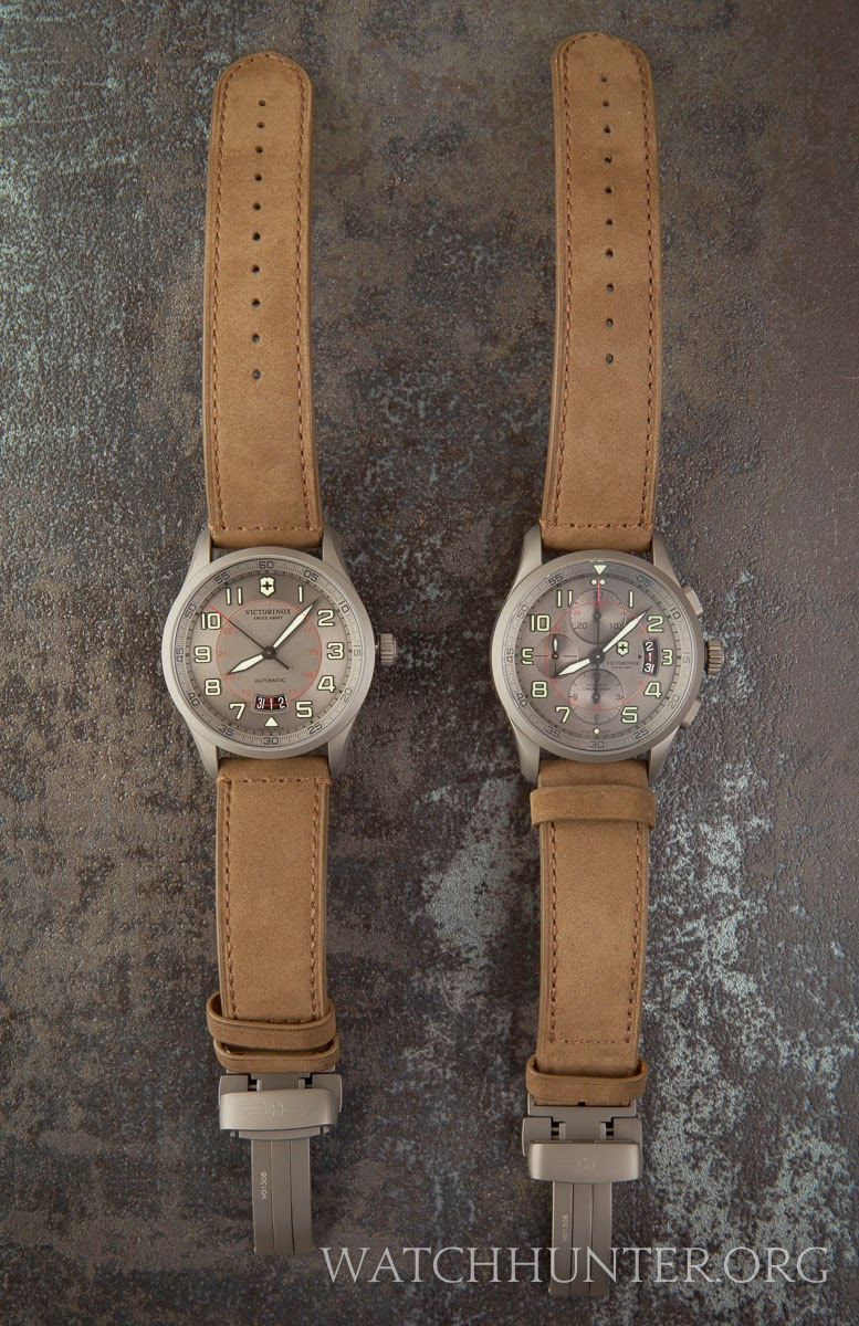 Comparison of 2013 Victorinox Swiss Army Airboss Limited Edition titanium watches 241599 241600