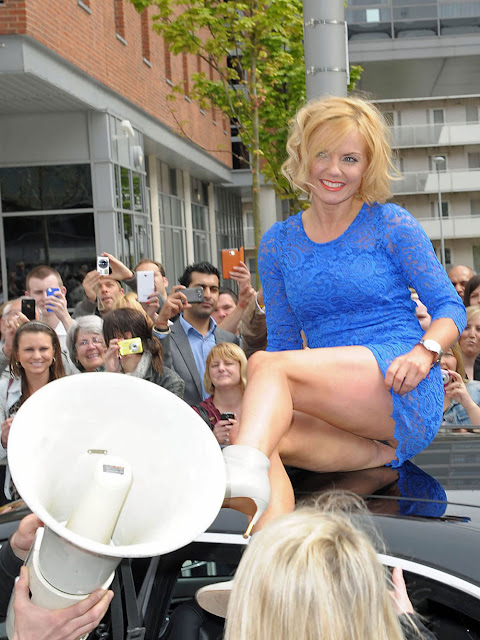 Geri Halliwell Hairy Upskirt X Factor In Liverpool