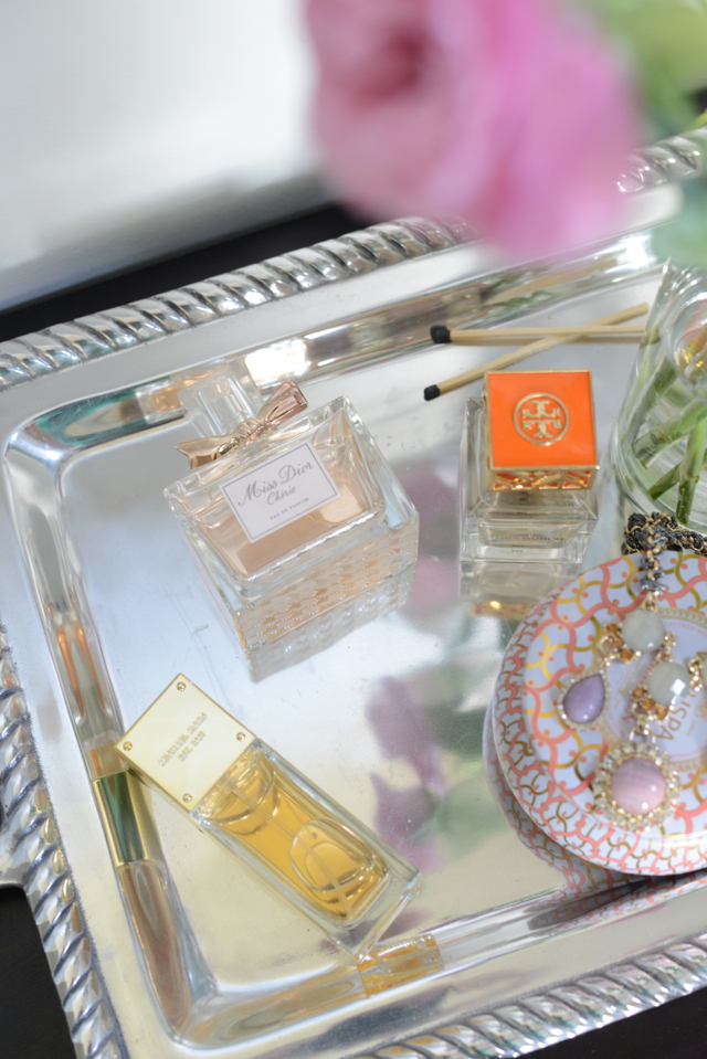 micahel kors sexy amber, christian dior miss dior cherie, tory burch perfume, M Loves M