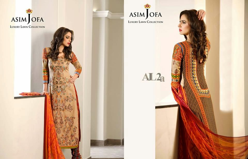 Latest Asim Jofa lawn collection 2015