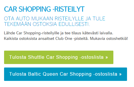 car shopping, tallinna tutuksi, shuttle, baltic queen