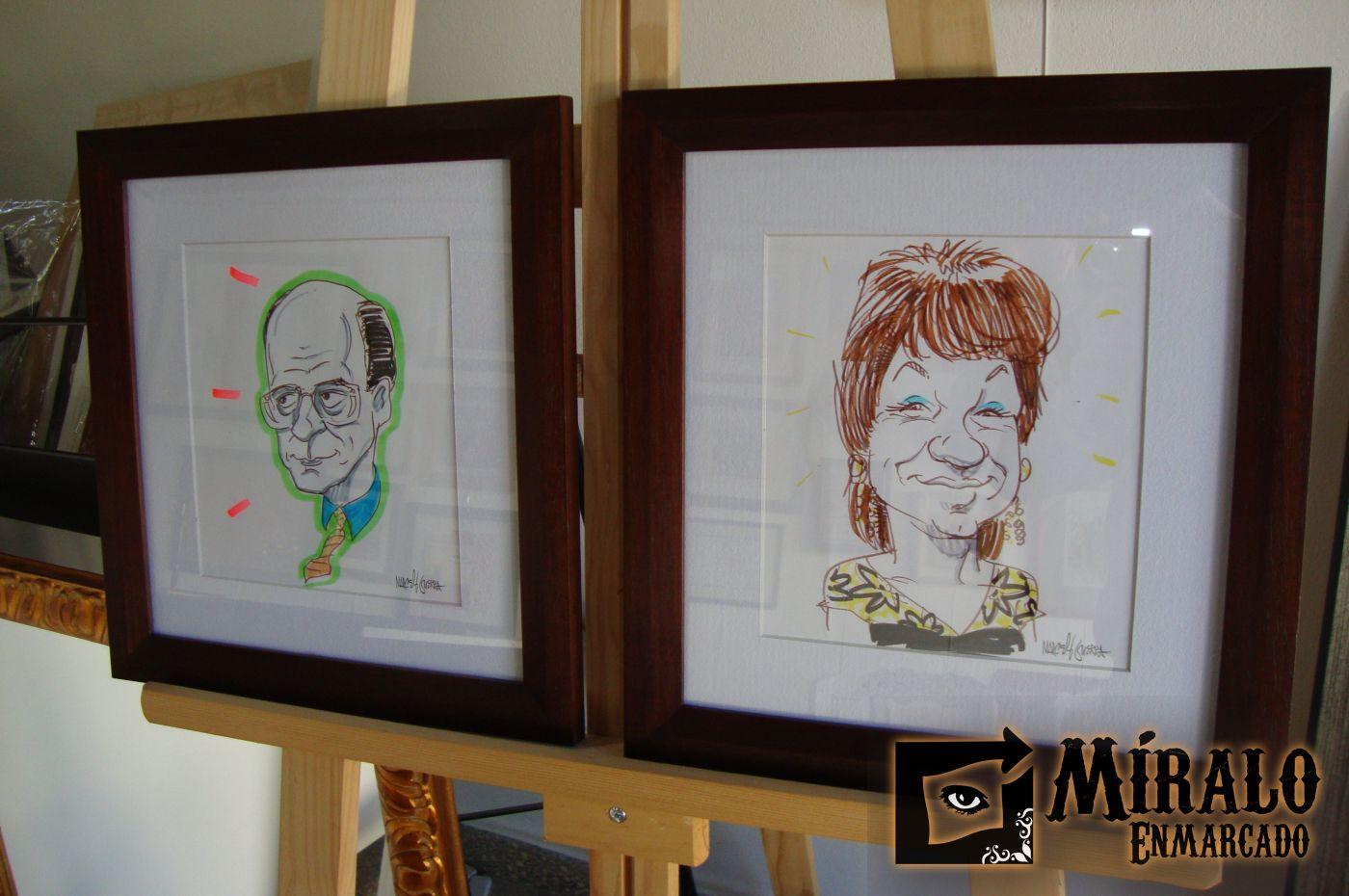 Enmarcado de dibujos - Caricaturas - Marco y passepartout