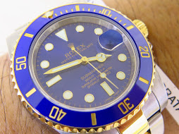 ROLEX SUBMARINER DATE CERAMIC SUNBURST BLUE DIAL - TWO TONE - ROLEX 116613LB - SERIAL RANDOM 2015