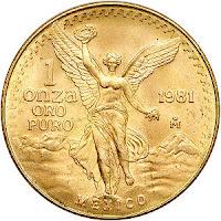 Equivalencia de una onza de oro.