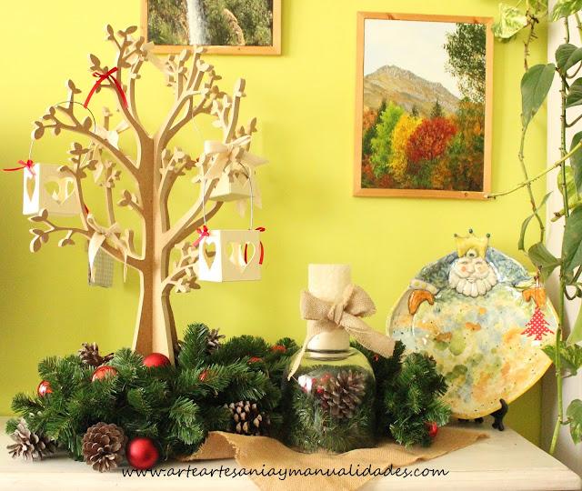 Arte artesania y manualidades decoraci n de navidad for Manualidades para casa rustica