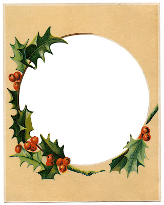 Antique Image Holly Frame