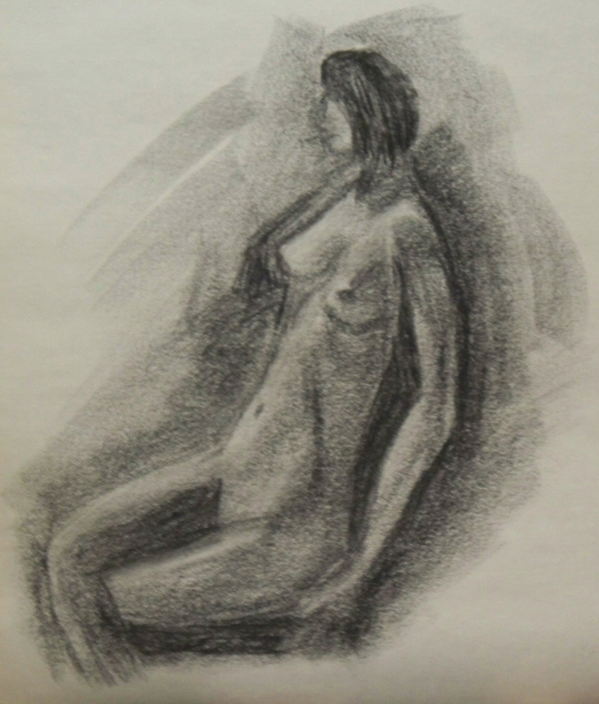 140917 - Day 17a - 30 in 30 Challenge - Charcoal on newsprint -  Dave Casey - TheDailyPainter.jpg
