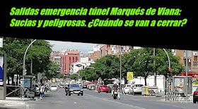 Salidas emergencia túnel Marqués de Viana: Sucias y peligrosas. ¿Cuándo se van a cerrar?