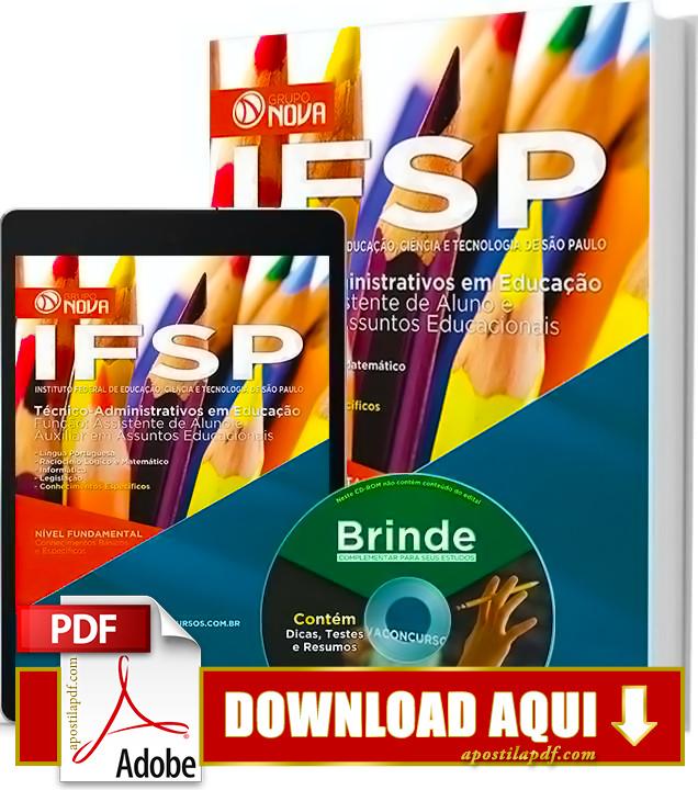 Apostila IFSP 2016 PDF Grátis Download Auxiliar em Assuntos Educacionais