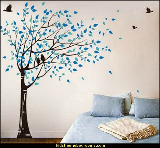 Tree Wall Mural Wallpaper Blowing in The Wind Tree Wall