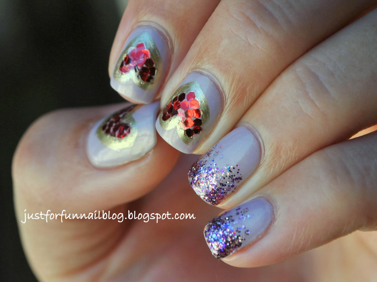 Week of Love V'day Nail Art Challenge - Day 4 - Hearts