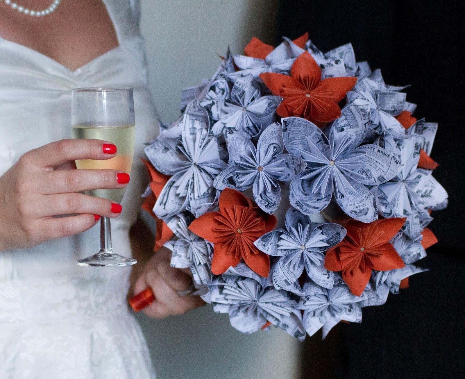 origami a week week 9 wedding bouquet
