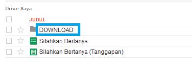 klik folder yang sudah jadi untuk menyimpan semua jenis file
