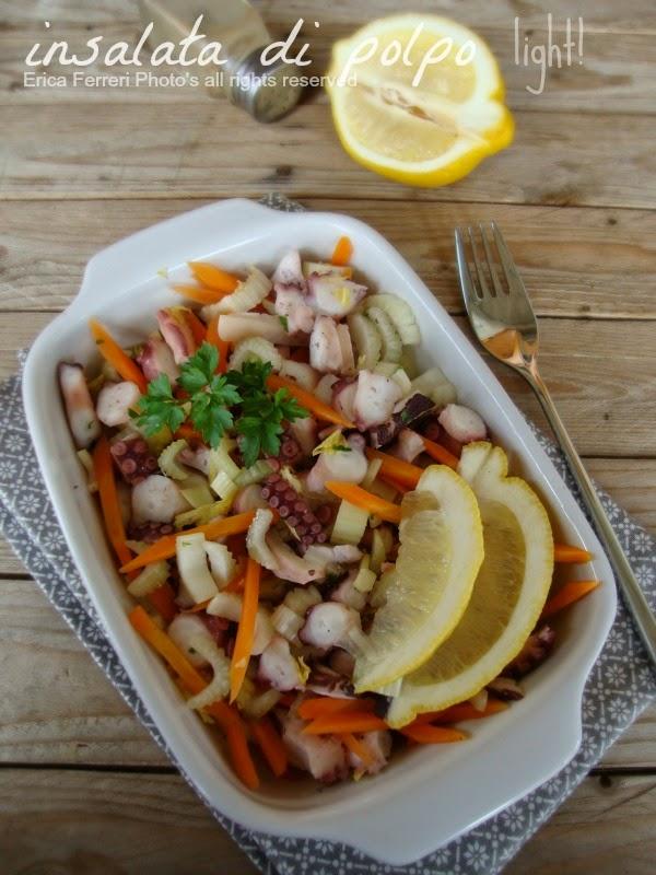 Ricetta insalata di polpo senza patate dieta dissociata