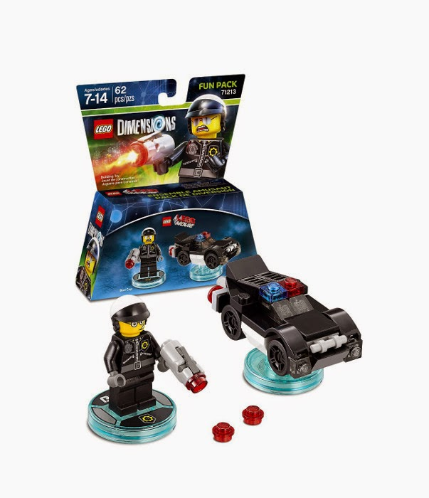 TOYS - LEGO Dimensions | Lego Movie  71213 Bad Cop Fun Pack | Figura - Muñeco  Includes: Bad Cop and Police Car | Poli Malo & Coche de Policía  [27 septiembre 2015] | Juguetes & Videojuegos  Xbox One, PlayStation 4, Nintendo Wii U, PlayStation 3, Xbox 360   Piezas: | Edad: 7-14 años