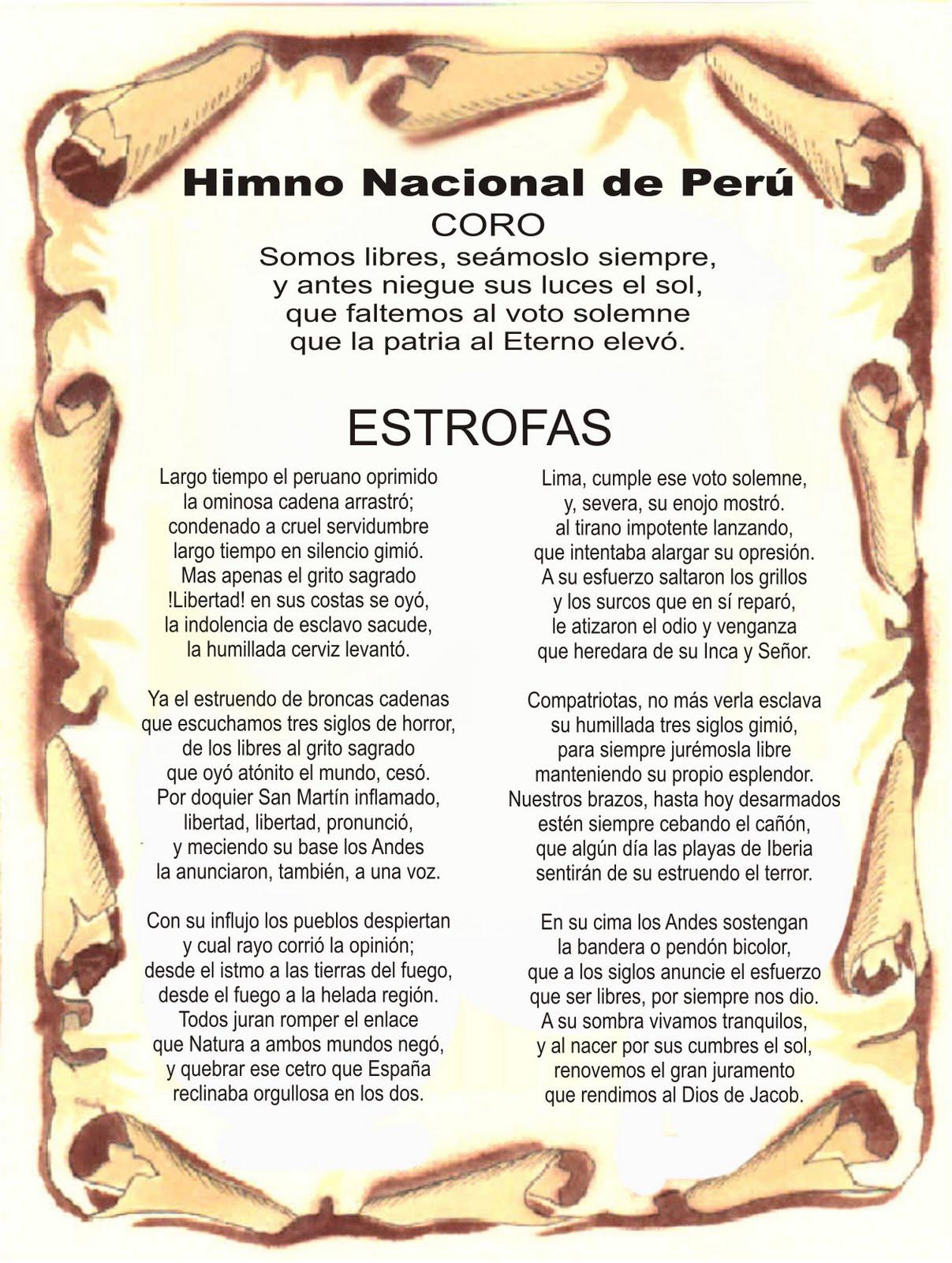 El Himno Nacional Del Peru