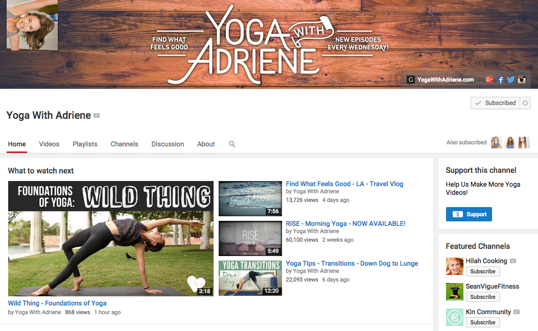yoga with adriene youtube channel, bedtime, lifestyle blogger