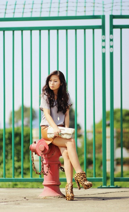 Chica faldita rayas - 2 part 9
