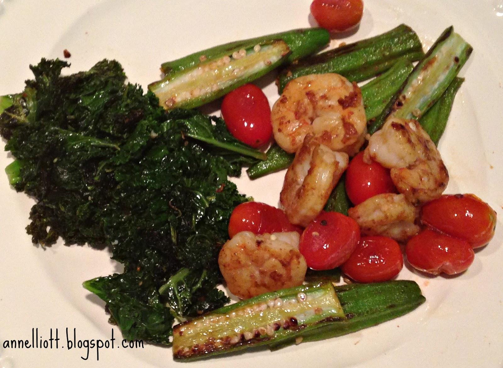 ann elliott: skillet roasted shrimp and okra