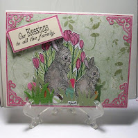 Digital Stamp, Easter Bunny, card by Sharon