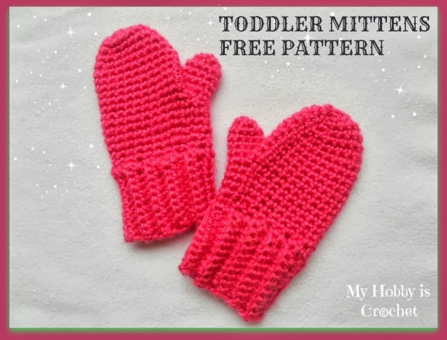 My Hobby Is Crochet: Crochet Toddler Mittens Ceyla - Free Pattern with ...