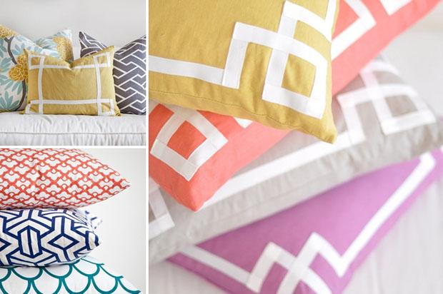 Caitlin Wilson,Textiles,almohadones,Pillow,Covers,fabric,tela,diseño,design,rosa,azul,gris,amarillo