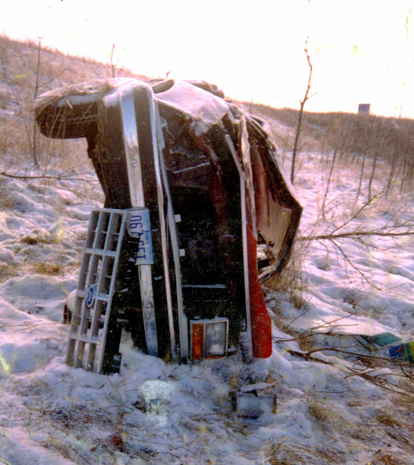 Image result for ford bronco laying on side in snow