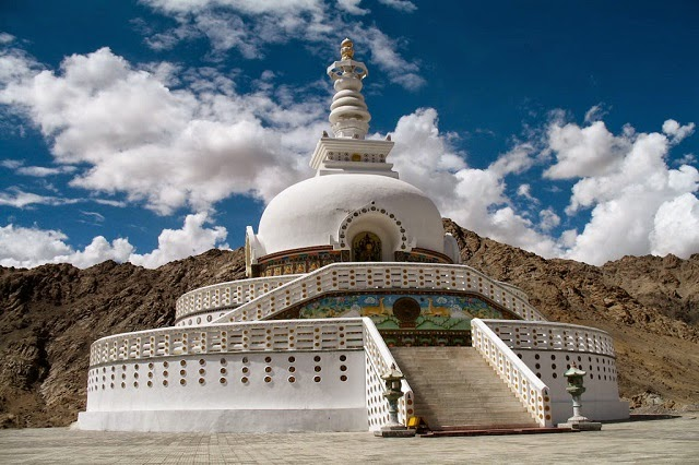 Shanti Stupa in Leh is one of the most major attractions of Ladakh
