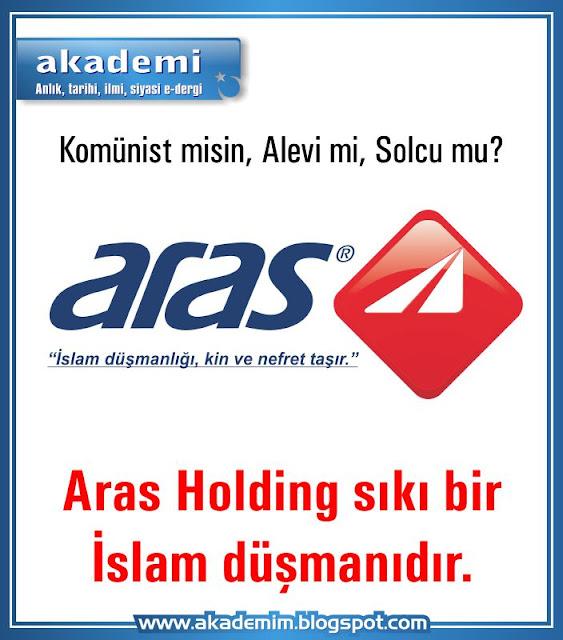 """Aras Holding - kargo sıkı bir İslam düşmanıdır. Anlaşılan o ki Aras Kargo, """"önem"""" değil, """"islam düşmanlığı, kin ve nefret"""" taşıyor..."""