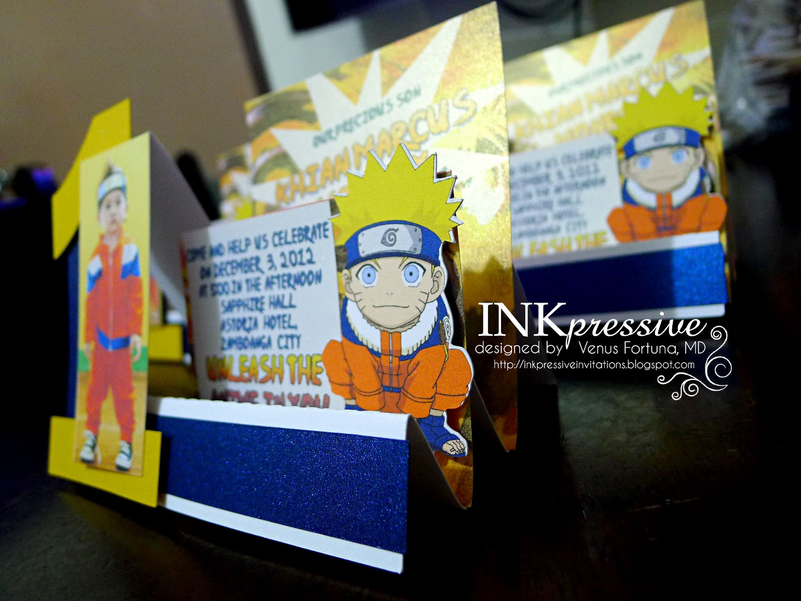 Naruto inkpressive invitations and comes with an envelope stopboris Choice Image