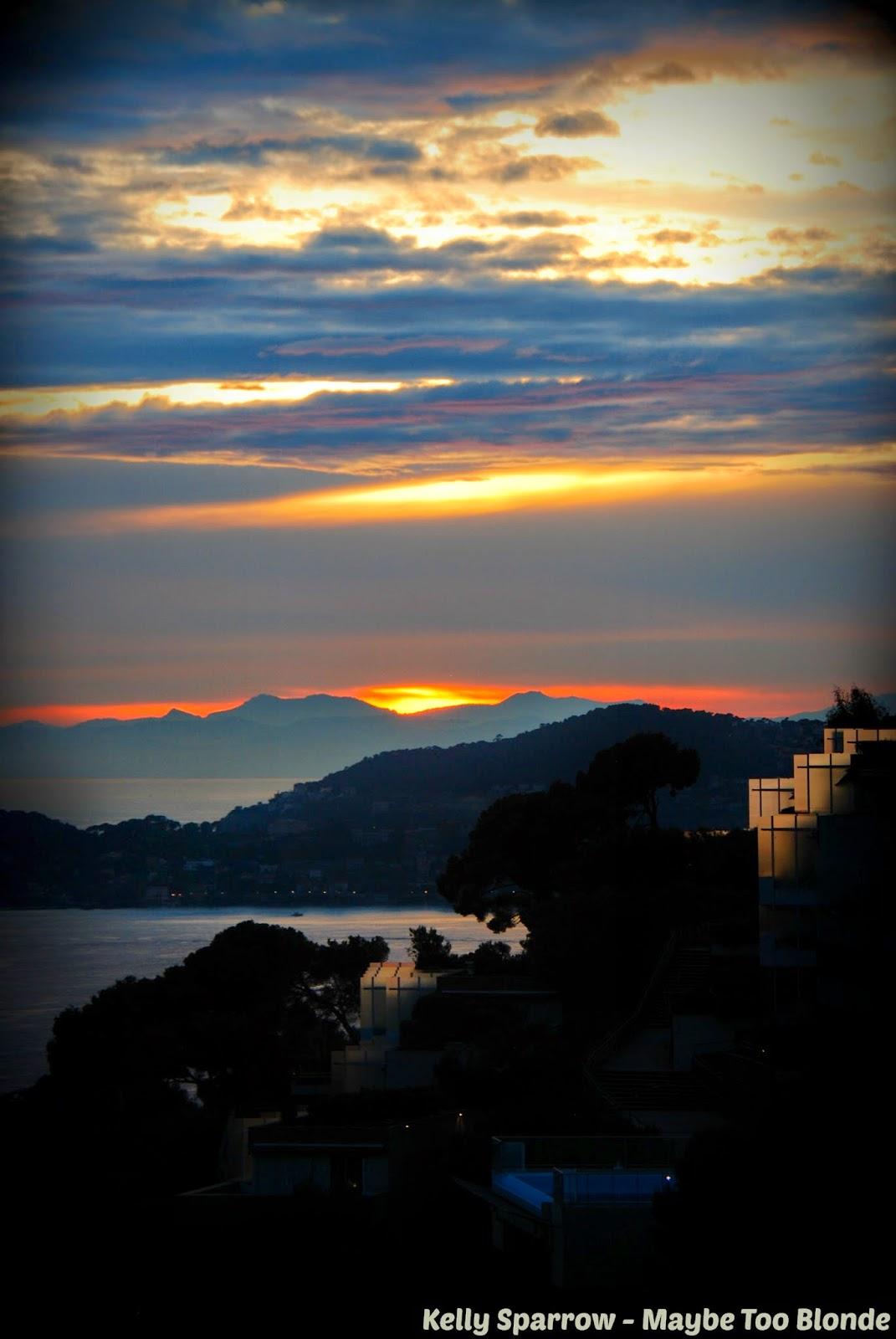Monaco-France sunset