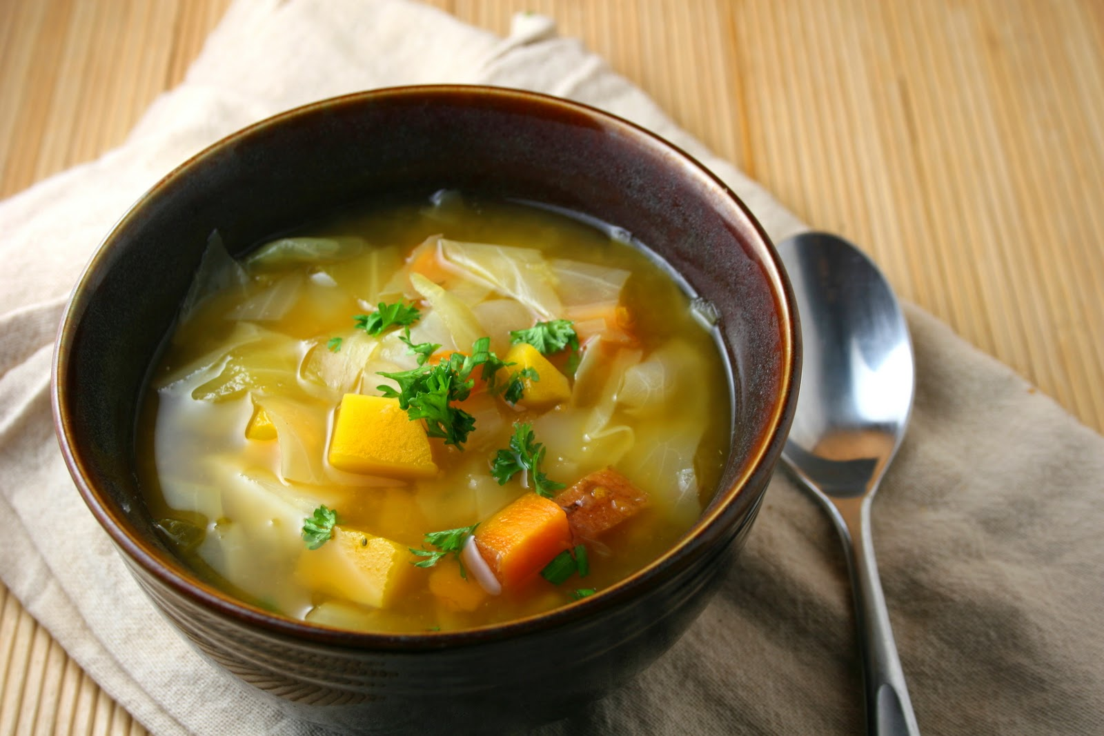 Sweet Potato, Butternut and Cabbage Soup - Coastal Cooking
