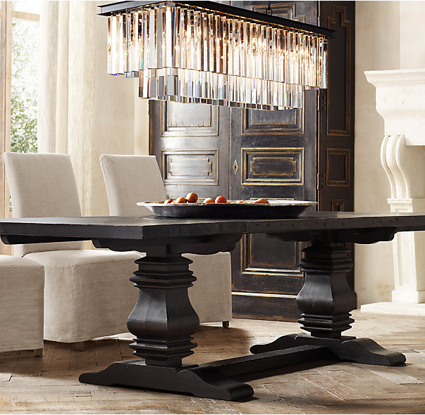 Restoration Hardware Has A Black Trestle Table That Looks Interesting