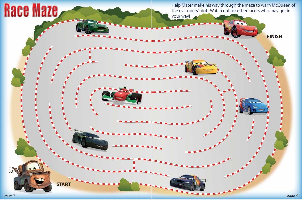 juego cars2 laberinto