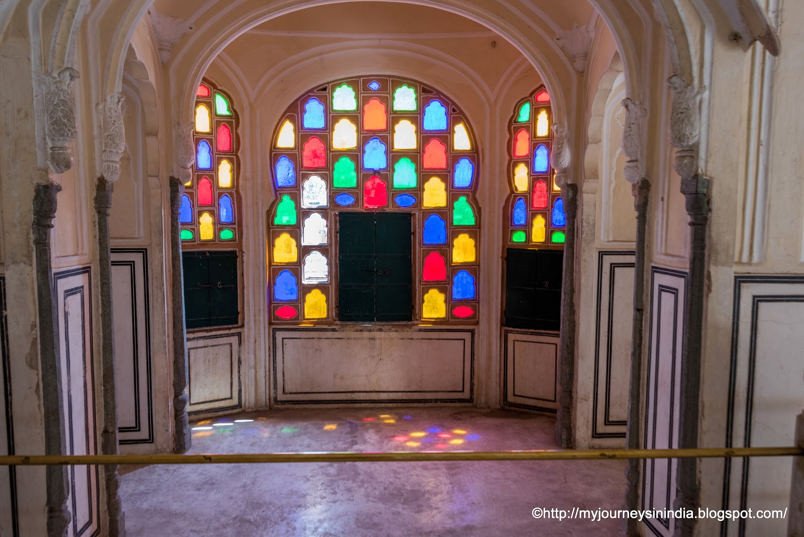 Hawa Mahal Colorful Windows Jaipur