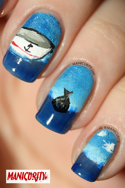 Manicurity | DEXTER inspired nail art - Slice of Life