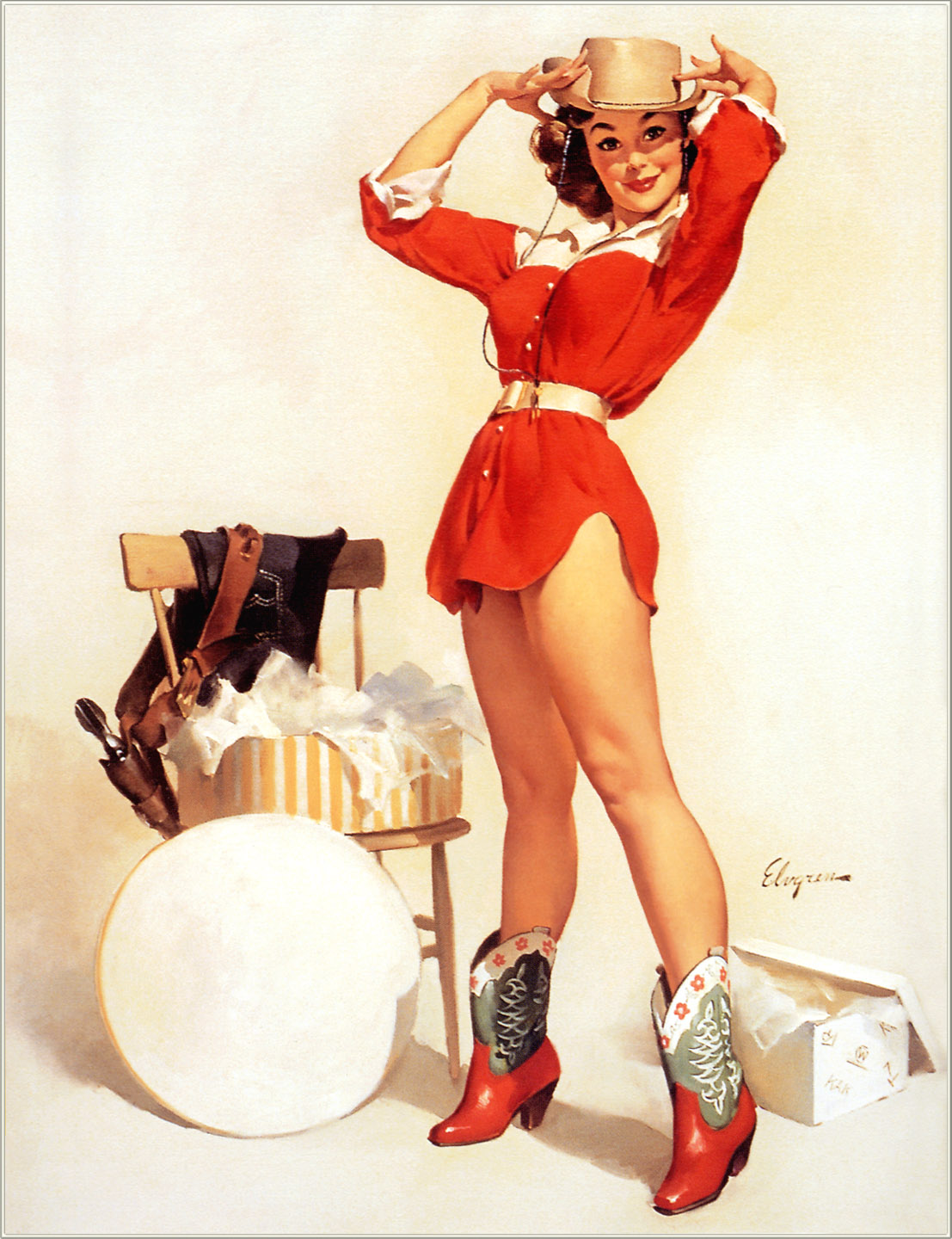 Japan Pin Up Art http://thepinupart.blogspot.com/2012/07/pin-up-in-red.html