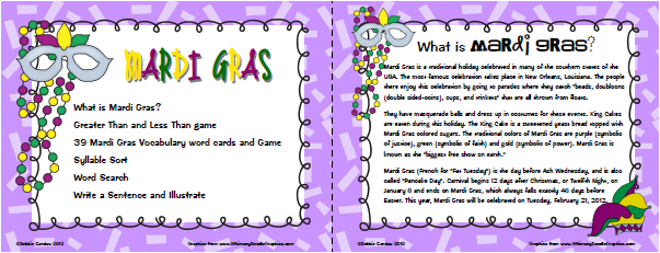 Sailing Through 1st Grade: Mardi Gras
