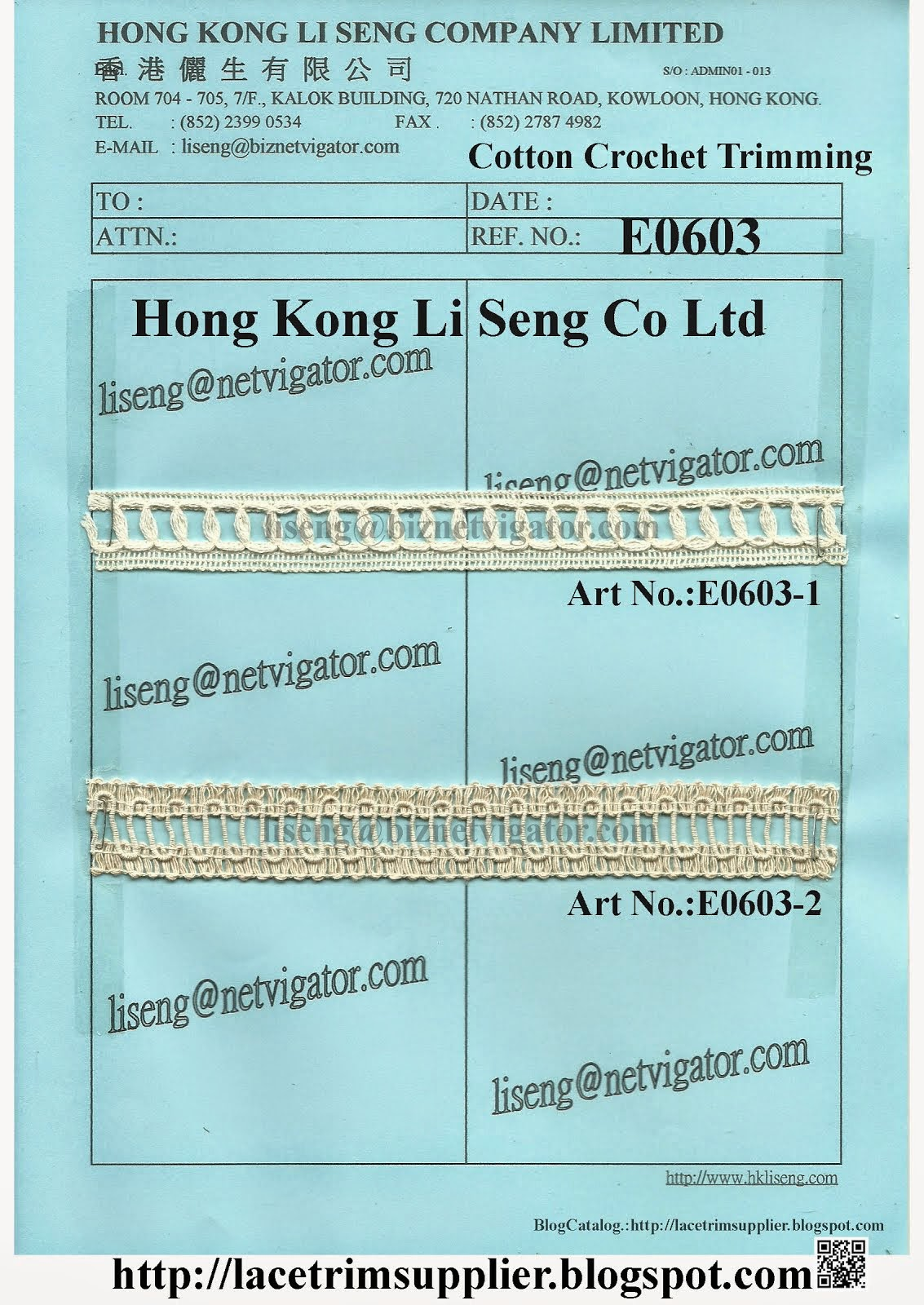 Cotton Crochet Trimming Supplier - Hong Kong Li Seng Co Ltd